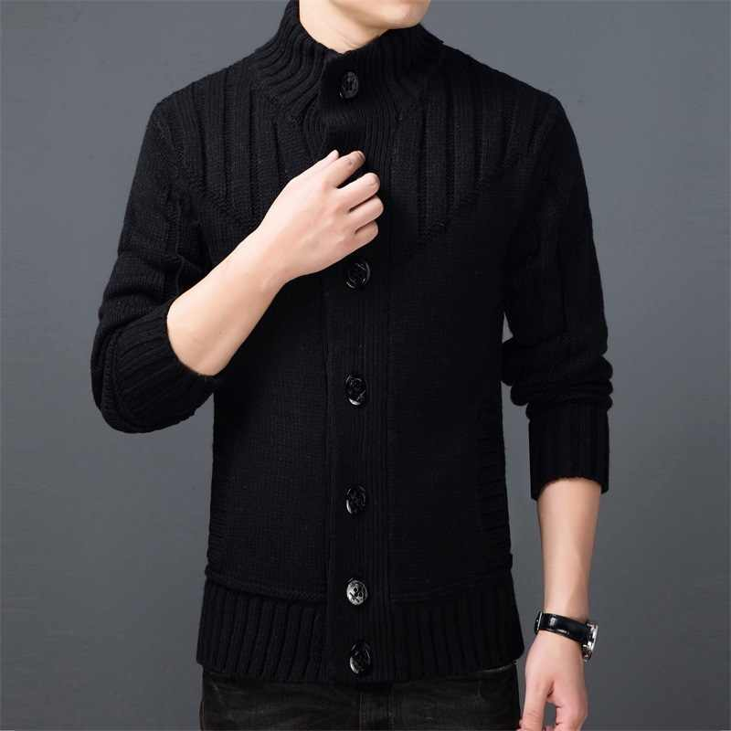 Long Sleeve Men'S Sweaters Cardigan Winter Clothes 2020