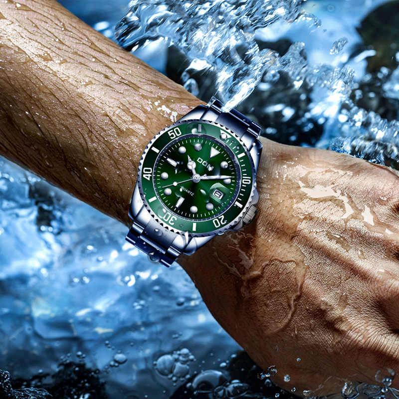 2019 למעלה מותג DOM יוקרה גברים של שעון 30m עמיד למים תאריך שעון זכר ספורט שעונים גברים קוורץ שעון יד relogio Masculino