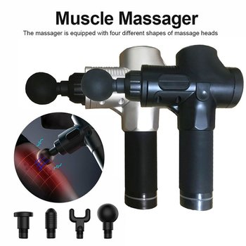 Fascia Gun Massage Deep Muscle Relaxer Physiotherapy Instrument Electric Shock High Frequency Vibration Fitness Hammer