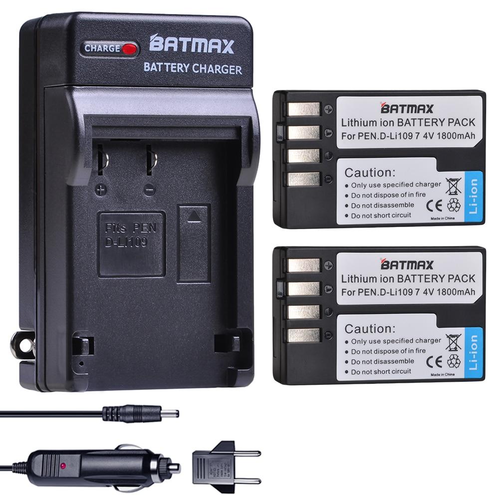 2X D-Li109 D Li109 DLi109 Батарея + Зарядное устройство для Pentax K-70 K70 K-50 K50 K-30 K30 K-S1 KS1 K-S2 KS2 Крос металличесые наклейки K-500 цифровых камер