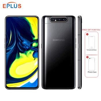 Перейти на Алиэкспресс и купить Новый оригинальный samsung Galaxy A80 A8050 мобильный телефон с двумя sim-картами 6,7 дюйм8 ГБ ОЗУ 128 Гб ПЗУ Snapdragon 730 Android 3700 мАч NFC 4G телефон