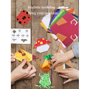 Image 4 - ميدير لعب للأطفال الأطفال الإبداعية اليدوية اوريغامي يدوية الصنع DIY بها بنفسك مجموعة رياض الأطفال اليدوية اوريغامي لعب للأطفال> 3Y