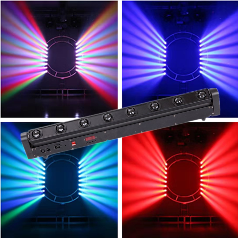 RGBW 8x12 W <font><b>LED</b></font> Bar Strahl Moving Head <font><b>Licht</b></font> DMX512 Moving Head Strahl <font><b>Licht</b></font> voor DJ Disco Party nachtclub Ereignis Anzeige Bühne image