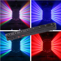 RGBW 8x12 W LED Bar Beam Moving Head Licht DMX512 Moving Head Beam Licht voor DJ Disco Party Nachtclub Event Tonen Stage