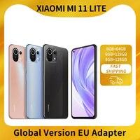 "Xiaomi Mi 11 Lite Globale Version 6 + 64/6 + 128/8 + 128 Smartphone Snapdragon 732G Octa Core 6.55 ""64MP Hinten Kamera 4520mAh NFC"
