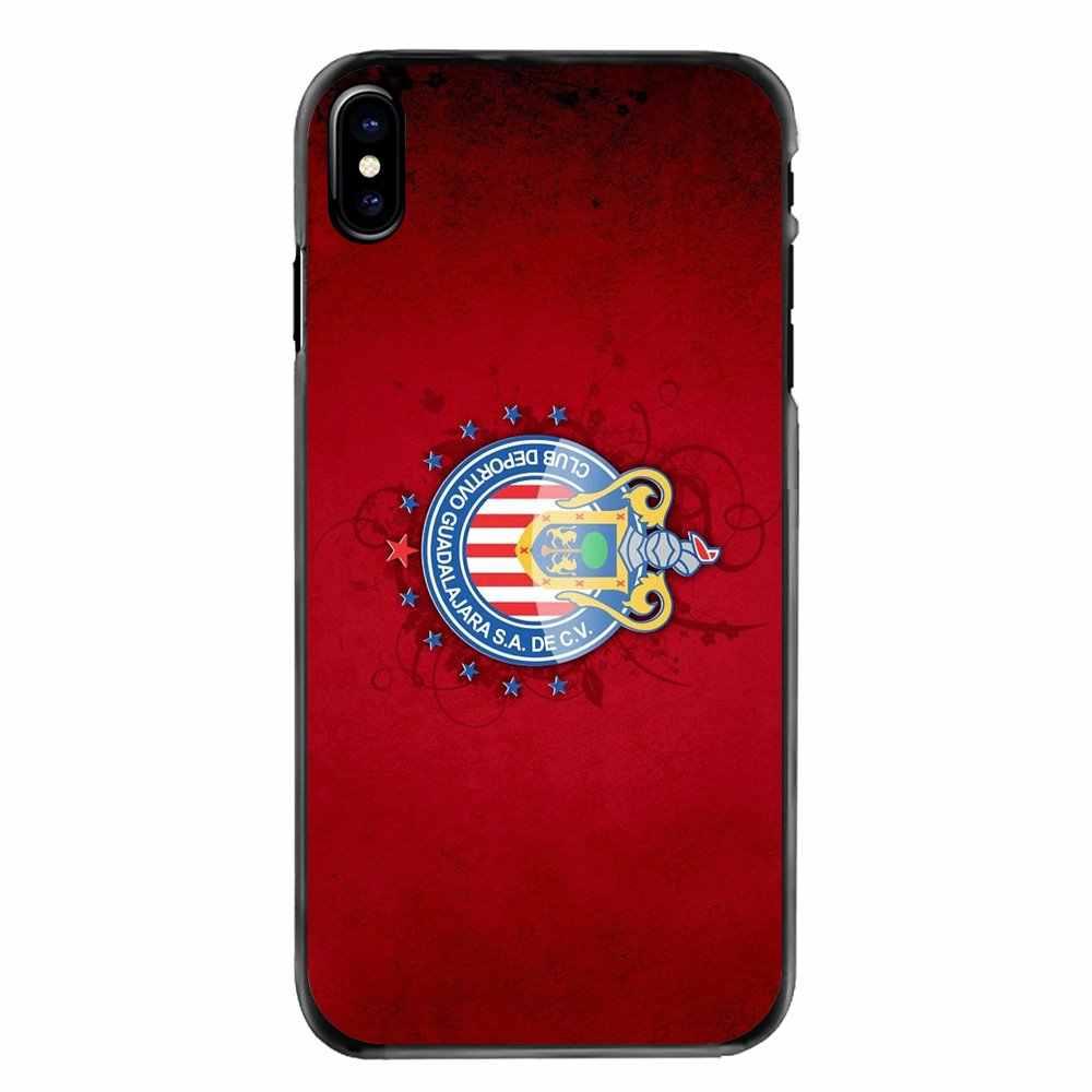 IPhone 4 4S için 5 5S 5C SE 6 6S 7 8 artı X XR XS Max iPod Touch 4 5 6 Chivas de Guadalajara Logo aksesuarları telefon kabuk kapak