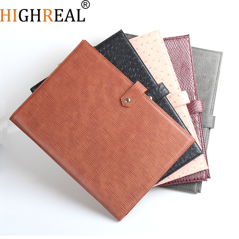 New Document Bag Men Women Crocodile Pattern Padfolio Top quality Business A4 File Holder Luxury Porfolio For Ipad Holder(China)
