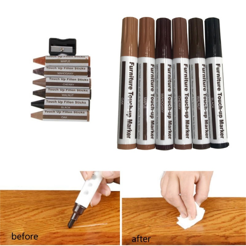 New Wax Wooden Furniture Floor Repair Pens Repair Kit Wax Sticks Markers Set Of Repair Stains Scratches For Furniture Pens Kit