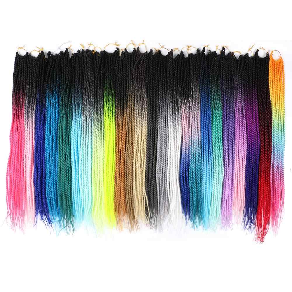 Mtmei Hair Ombre Braiding Hair Extensions Senegalese Twist Hair Crochet braids 22 inch 20 Roots/pack Synthetic Crochet Braids