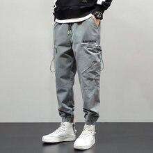 Модные уличные мужские джинсы высокого качества повседневные