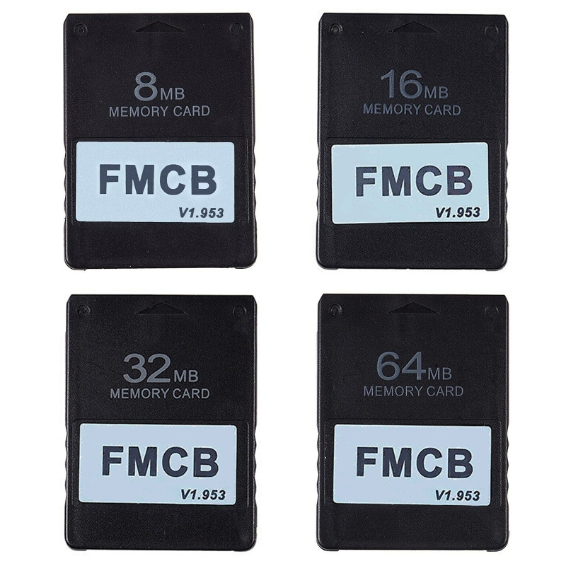 FMCB v1.953 Card Memory Card for PS2 Free McBoot Card 8 16 32 64MB