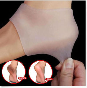 NEW 1PC Silicone Moisturizing Gel Heel Sock Peds Cracked Foot Skin Care Protector Silicone Heel Cover Transparent