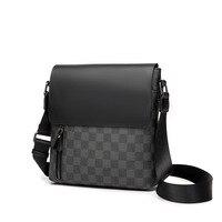 2020 موضة الرجال حقيبة جلدية حقيبة كروسبودي الكتف الرجال حقيبة ساع مصمم حقيبة صغيرة عادية حقائب رجل منقوشة
