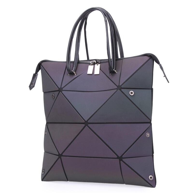LOVEVOOK Women Handbags Luxury Shoulder Bags Designer 2019 Foldable Totes With Top-handle Large Capacity Geometric Luminous  Bag