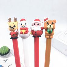 4 шт/лот Рождественский Подарок Гелевая ручка Санта Клаус Лось