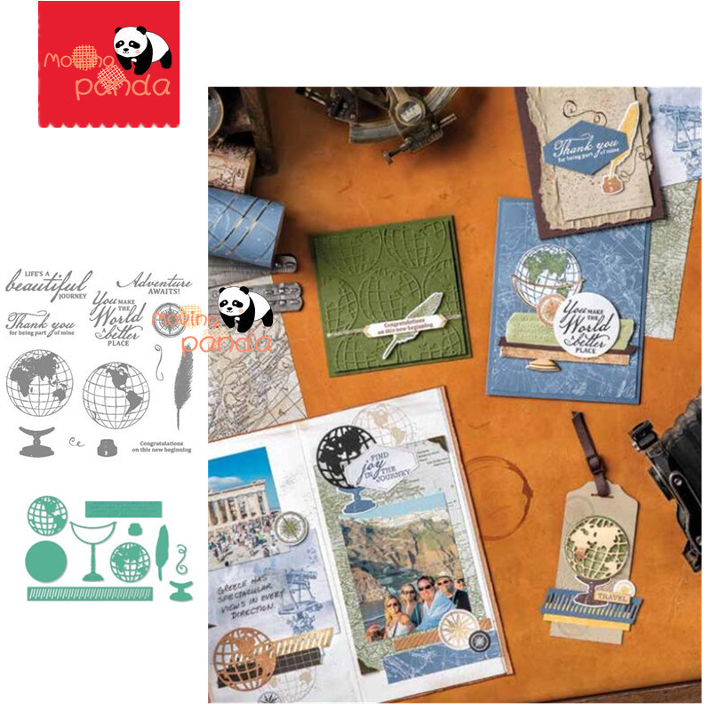 MP106 BEAUTIFUL WORLD Metal Cutting Dies And Stamps Scrapbooking DIY Album Stamp Paper Embossing Craft Arts Decor New For 2020