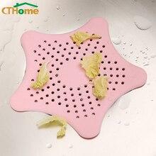 1 шт. канализационная звезда силиконовый фильтр для слива раковины волосы в ванной ловушка стопор Траппер сливное отверстие фильтр для ванной кухни