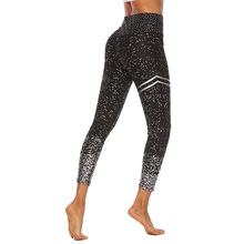 New Explosions Hot Stamping Printed Yoga Pants High Waist Stretch Fitness Hip Slim Leggings Women