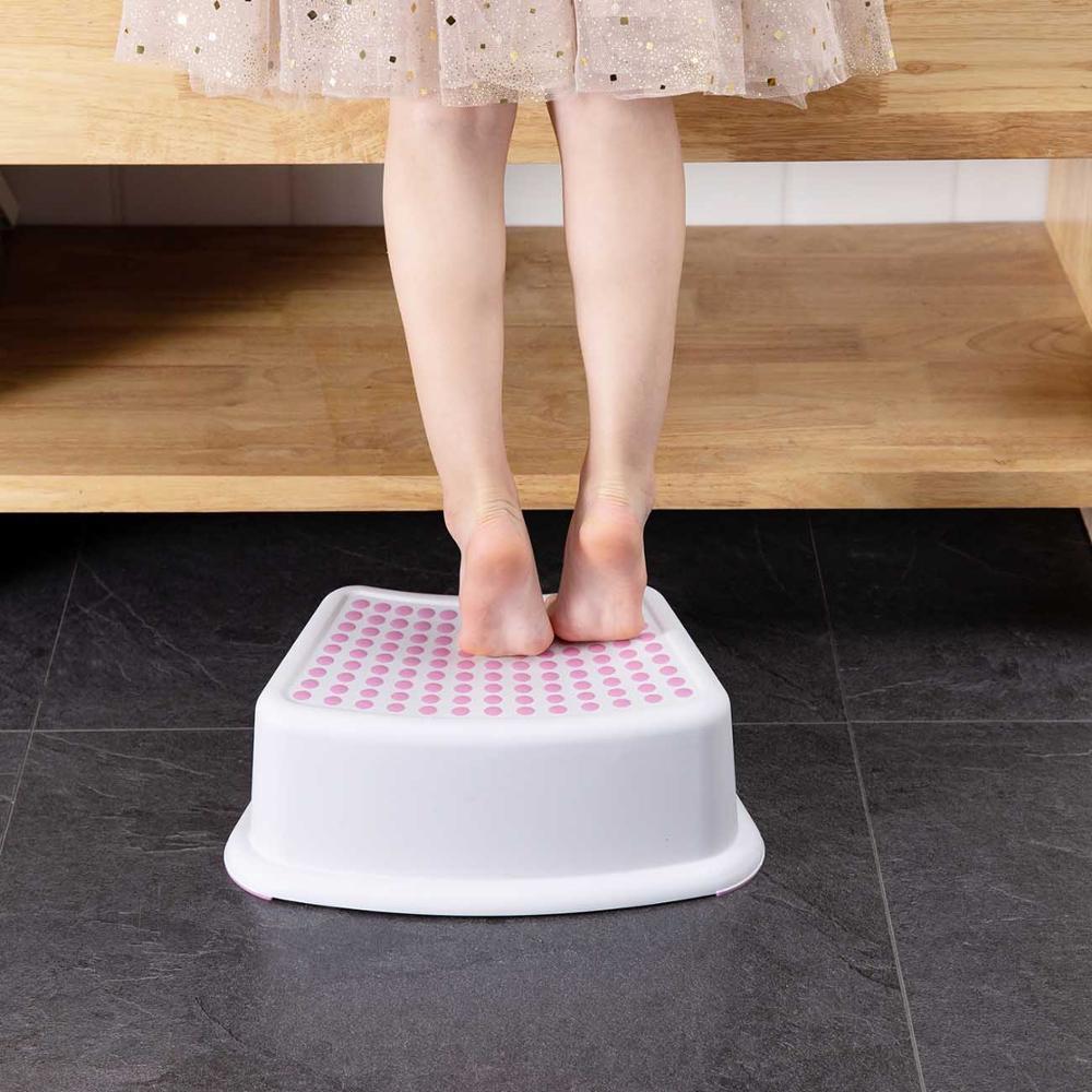 Plastic Stool Bathroom Hand Washing Bath Stepping Pad Footstool Short Baby Non-slip Children Small Platform Kids Furniture