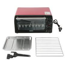 Forno elétrico doméstico multifuncional 12l mini galvanizado folha de cozimento forno KAO-1208 1050w com bakeware