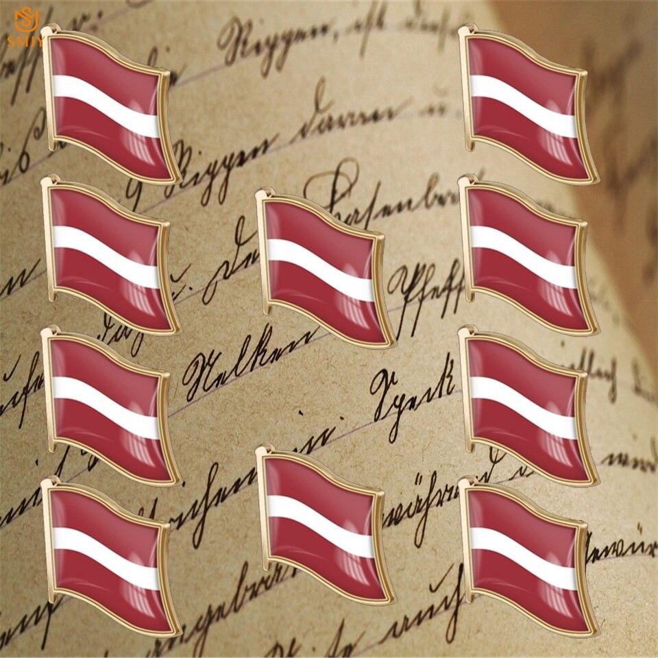 Latvia Flag Lapel Hat Pin NEW