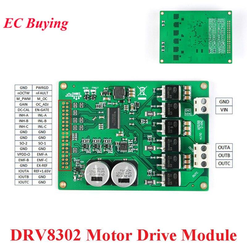 Módulo sem escova do amplificador de controle do vetor do st foc da movimentação do pmsm da alta potência bldc 5.5-45 v 15a do módulo da movimentação do motor de drv8302