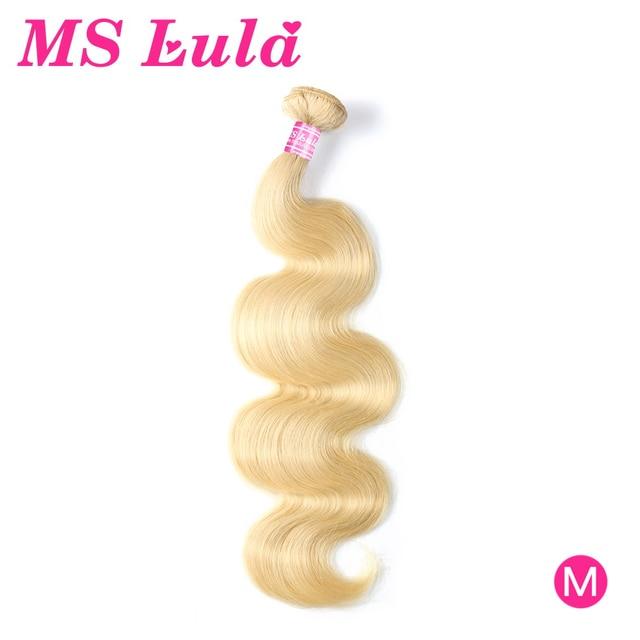 Brazilian Body Wave Blonde Hair Extensions MS Lula 30 Inch Bundles 100% Human Hair Weave Remy 613 Hair Bundles Free Shipping