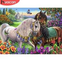 HUACAN 5d bricolage diamant peinture cheval plein carré/rond diamant broderie point de croix Animal fait main décoration de la maison