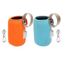 High Quality USB Baby Bottle Portable Bottle Thermostat Heating Cover Anti-scalding Non-slip Insulation Bag стоимость