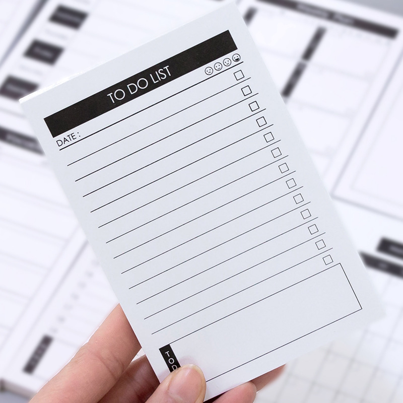 Creative Study&Work Plan Kraft Paper Sticky Notes Post Memo Pad Kawaii Stationery Office Accessory School Supplies To Do List