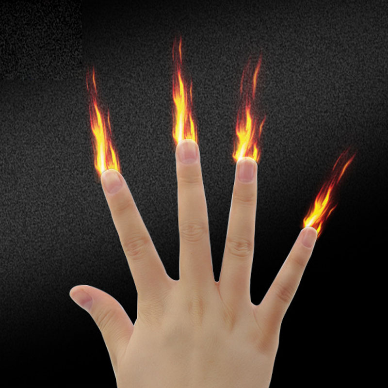 Funny Magician Gimmick Illusion Magic Tool 1 Set Finger Fire Magic Stage Magic Prop Professional Magic Tricks
