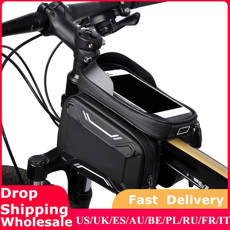 Велосипедные сумки Передняя рама MTB велосипедная сумка Аксессуары для велоспорта водонепроницаемый экран сенсорный Топ трубка сумка для телефона|Сумки и корзины для велосипеда|   | АлиЭкспресс