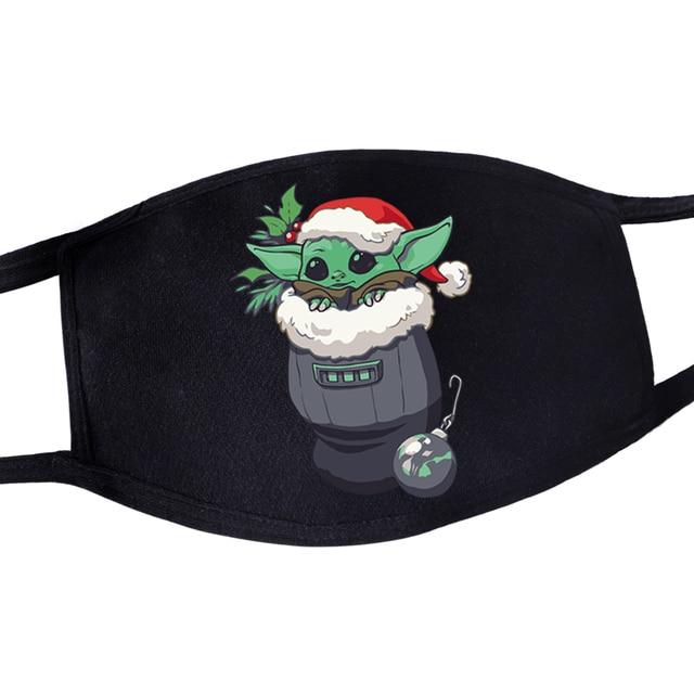 2020 Hot Mandalorian Anti Dust Masker Adult Womens Mens Kids Baby Yoda Face Mask Masque Star Wars Kawaii Reusable Mouth Masks 3