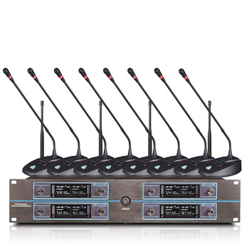 Professional wireless microphone 8 channel wireless conference microphone for large and small conference speech microphone