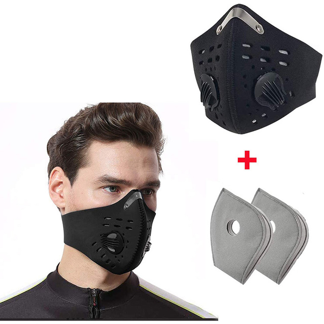 Anti Dust Face Mask Anti-Pollution With Filter mask Activated Carbon PM 2.5 Sports Cycling Outdoor Running face Filter mask 1