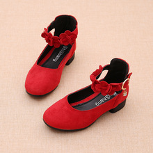 Pink Red Black Big Girls Leather Shoes for Kids High Heeled Girls Princess Shoes For Wedding and Party Dress Shoes Girls 3-15T cheap OCQBI Rubber Fits true to size take your normal size In with 14T black Red 4 5 6 7 8 9-14Years old Kids Spring Autumn Winter