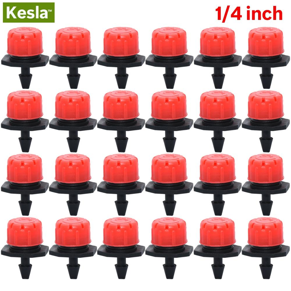 30-500PCS Adjustable 1/4 Irrigation Misting Dripper Sprinkler Head Micro Flow Drip Head Garden Watering Tool Lawn Greenhouse