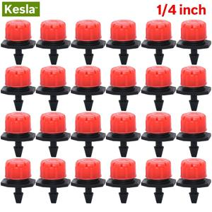 30-500PCS Adjustable 1/4 Irrigation Misting Dripper Sprinkler Head Micro Flow Drip Head Garden Watering Tool Lawn Greenhouse(China)