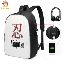 Naruto Plaid Backpack Naruto Plaid Backpacks Men's - Women's Multi Function Bag Schoolbag Pattern Bags