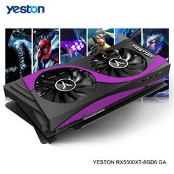 Yeston Radeon RX 5500 XT GPU 8GB GDDR6 128bit 7nm Gaming Desktop computer PC Video Graphics Cards support DP/HDMI/DVI-D