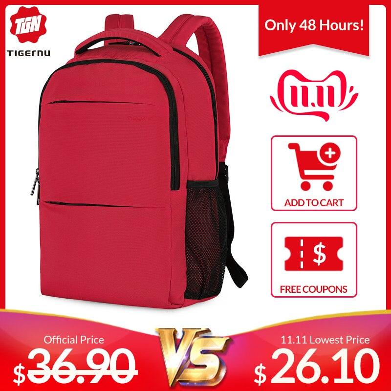 Tigernu New Fashion Women 15.6 Inch Anti Theft Laptop Backpack Scratchproof Female School Backpacks Travel Feminina Mochilas Bag
