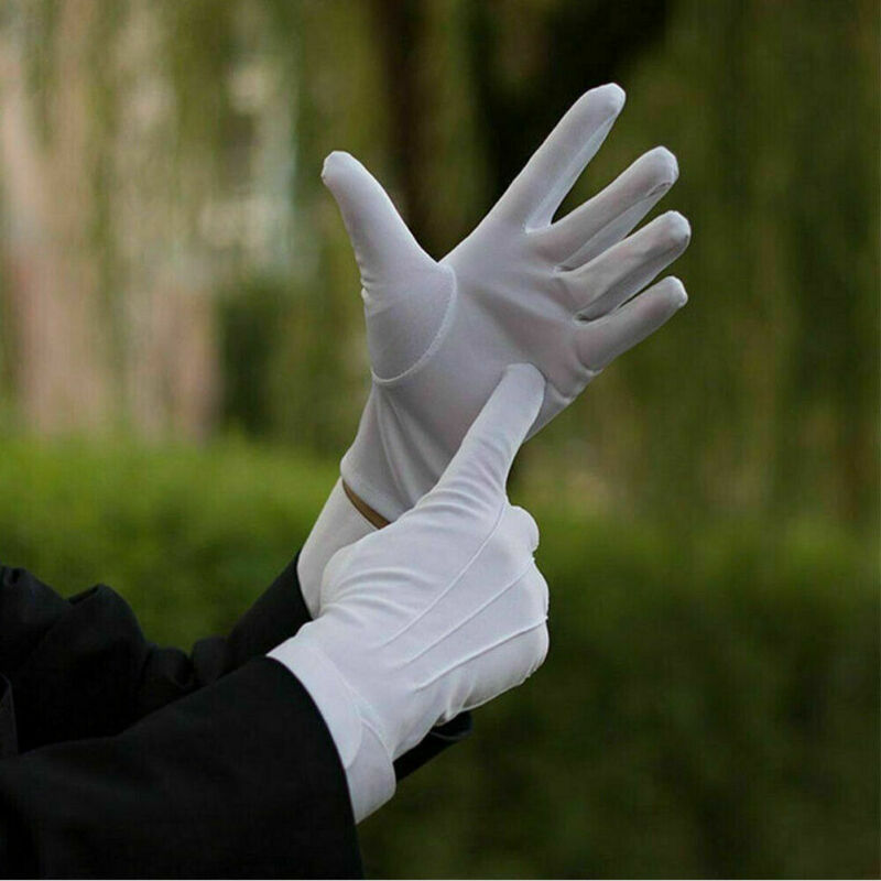 1 Pairs Cotton Gloves Khan Cloth Quality Protector Gloves Wedding Ceremony Thin Etiquette Gloves Funeral Gloves