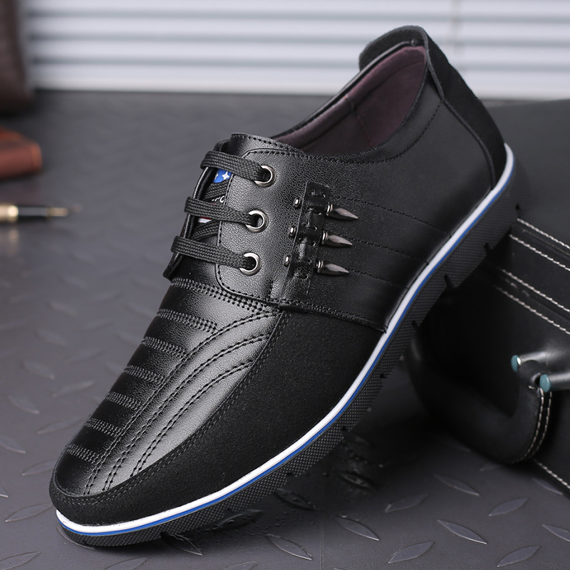 Brand Big Size Casual Shoes Men Fashion Business Men Casual Shoes Hot Sale Spring Autumn Breathable Casual Men Shoes Black