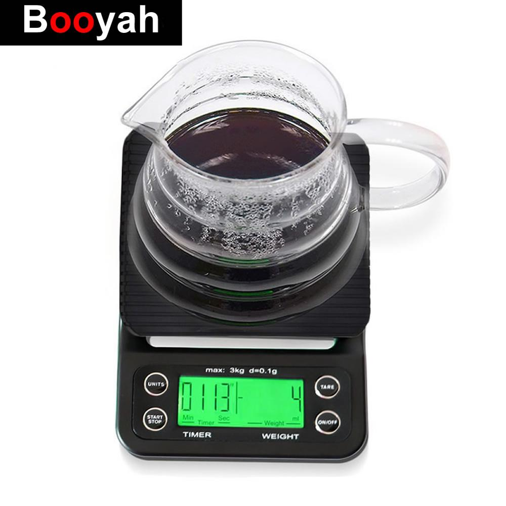 3kg/0.1g 5kg/0.1g Portable Drip Coffee Scale Digital Kitchen Scale LCD Electronic Scale With Timer Electronic Scales Weighing