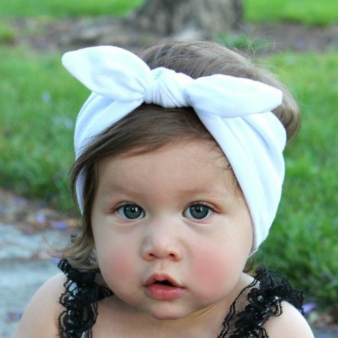 Baby Hair Band Colorful Baby Girls Lovely Hair Bow Tie Bands New Born Ribbon Headbands