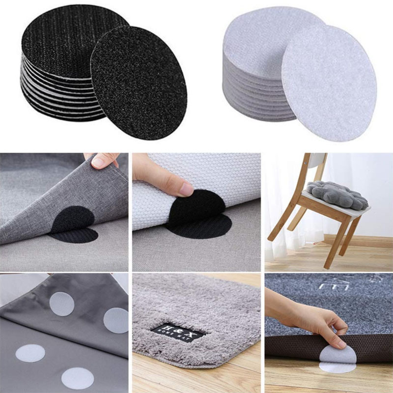 Crochets et boucles adhésifs auto-adhésif | Adhésif, points de fixation, ménage antidérapant, crochets et boucles pour tapis de canapé 5-30 couleurs/paquet de 60mm