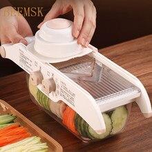 Beemsk multi-função cortador de legumes ajustado ralador ajustável ferramentas de cozinha ralador de corte vegetal vegetal frutas slicer