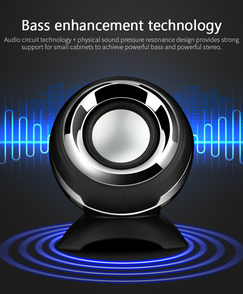 Mini Computer Speaker Wired Speaker 3D Stereo Sound Box  Bass Horns For Laptop Desktop Phone Powerful Music Player Loudspeakers