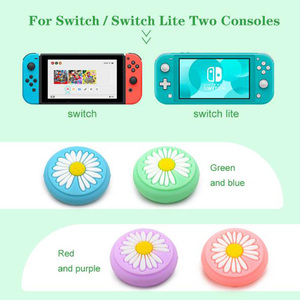 Image 2 - Animal Crossing Secretary Puppy Dog Isabelle Thumb Stick Grip Cap Joystick Cover For Nintend Switch Lite Joy Con Controller Case