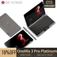 OneMix3 Pro Platinum notebook 8.4 inches IPS touchsreen Intel Core i7 10510Y Quad Core 16GB 512GB Windows 10 laptop Yoga tablet